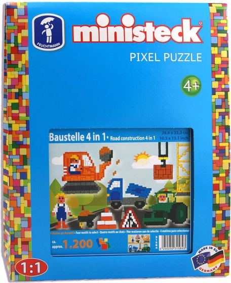 Ministeck bouwplaats 4 in 1 1200 delig 209868
