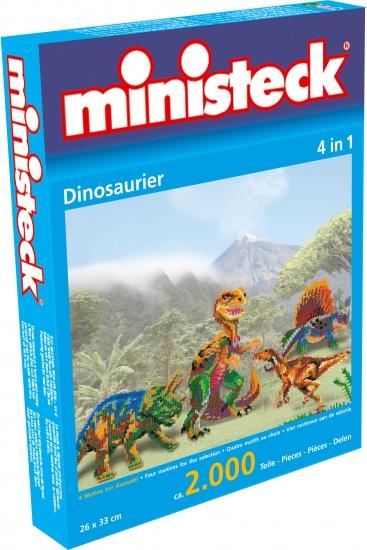 Ministeck dinosauriër 4 in 1 2000 delig