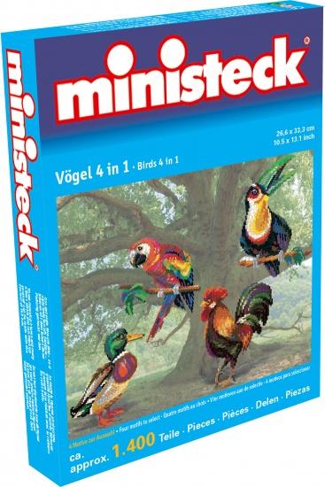 Ministeck vogels 4 in 1 1400 delig