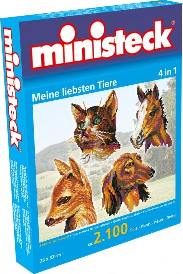 Ministeck mijn liefste dieren 4 in 1 2100 delig