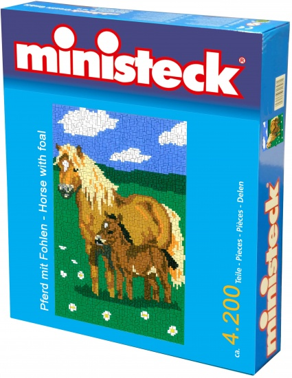 Ministeck Paard met veulen 4200 delig