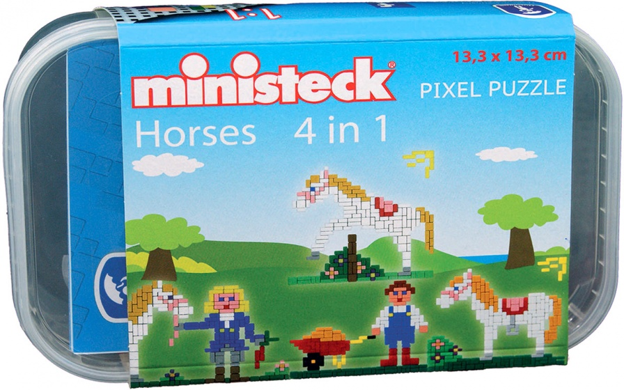 Ministeck paarden box 4 in 1 500 delig 209936