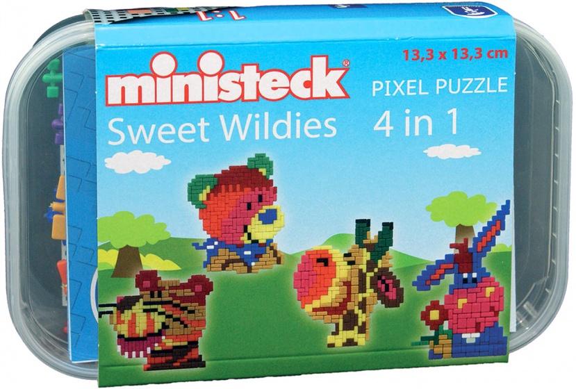 Ministeck wilde dieren box 4 in 1 500 delig 209927