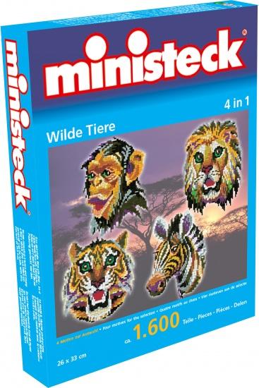 Ministeck wilde dieren 4 in 1 1600 delig