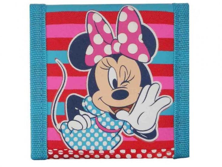 Disney Minnie Mouse portemonnee stippen rood/blauw