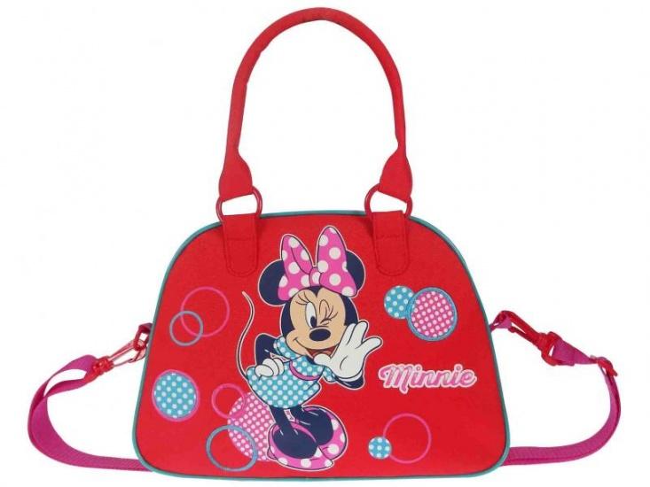 Disney Minnie Mouse schoudertas stippen rood 5 liter