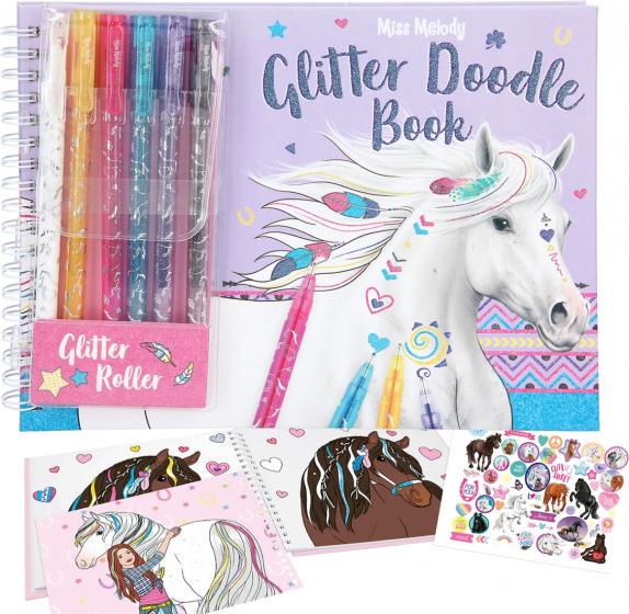 Miss Melody kleurset Glitter Doodle Book 22,5 x 16,5 cm 9 delig