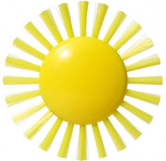 Bilibo borstel Plui Sunny Brush geel 9 cm