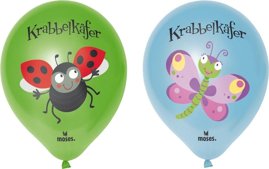 Moses ballonnen Krabbelkfer zakje  24 stuks blauw/groen