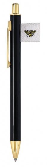 Moses balpen met label 13,5 cm zwart