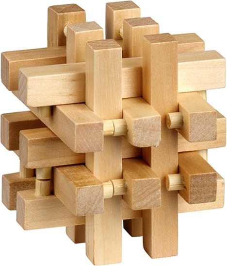 Moses Be clever! houten smart puzzels vierkant