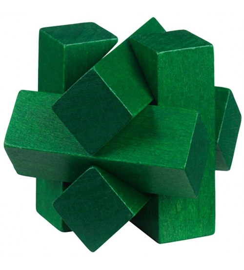 Moses Be clever! houten smartpuzzel groen 6 cm
