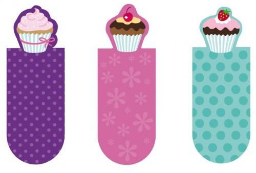 Moses boekenleggers magnetisch cupcake 3 stuks 6 cm