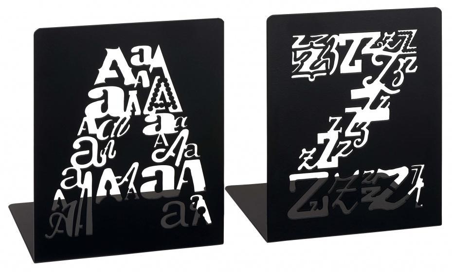 Moses boekensteunen A&Z letters zwart 2 stuks