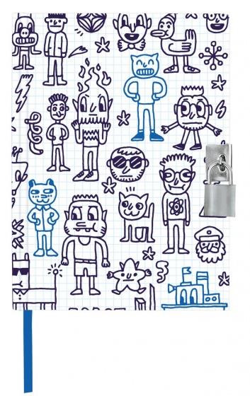 Moses dagboek met slotje Comic 21 cm wit