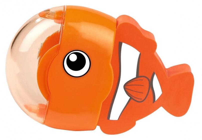 Moses gum en puntenslijper vis oranje 6 cm