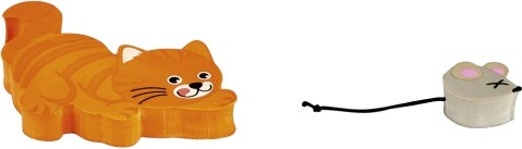 Moses Gummenset Kat En Muis 6 5 Cm Oranje/grijs