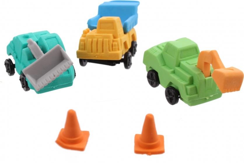 Moses gummenset Trucks 6 cm 4 delig