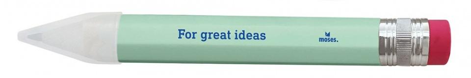 Moses home office XXL potlood met gum 25 cm lichtgroen