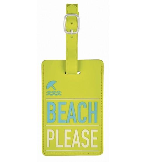 Moses kofferlabel Beach Please 11 x 7 cm groen kopen