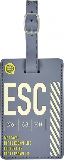 Moses kofferlabel ESC 11 x 7 cm donkergrijs kopen