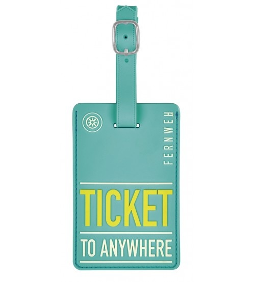 Moses kofferlabel Ticket to Anywhere11 x 7 cm turquoise kopen