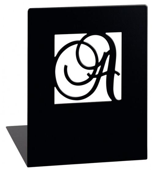 Moses Libri_x boekensteun A en Z staal zwart