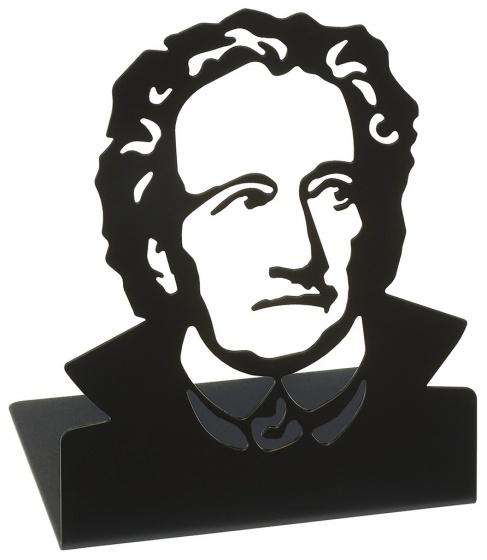 Moses Libri_x boekensteun Goethe staal zwart 2 stuks kopen