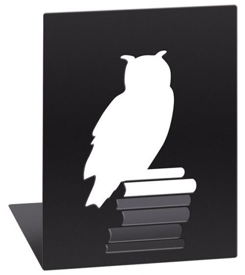 Moses Libri_x boekensteun uil staal zwart