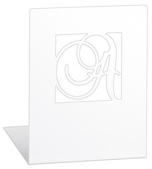 Moses Libri_x boekensteunen A Z staal wit 2 stuks