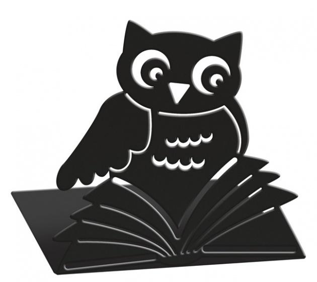 Moses Libri_x boekensteunen uil staal zwart 2 stuks