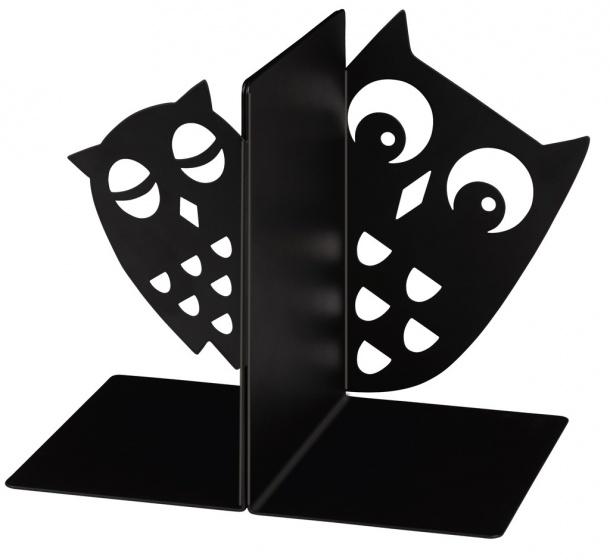 Moses Libri_x boekensteunen uilen staal zwart 2 stuks kopen
