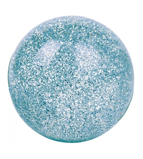 Moses magische glitterstuiterbal 5,5 cm aqua
