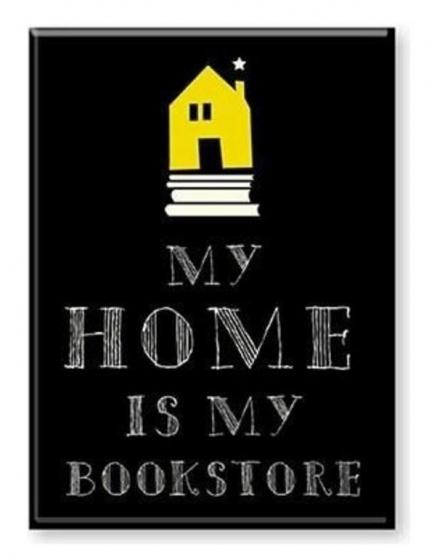 Moses Magneet bookstore zwart 9 cm