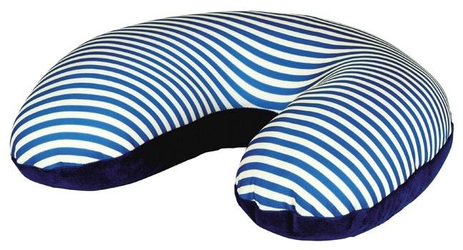 Moses nekkussen/kussen 2 in 1 30 x 32 x 10 cm blauw/wit kopen