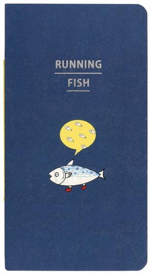 Moses notitieboek Running Fish 16 x 9 cm blauw