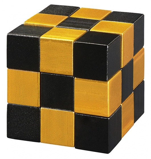 Moses puzzel Snake2Cube goud 4,5 cm