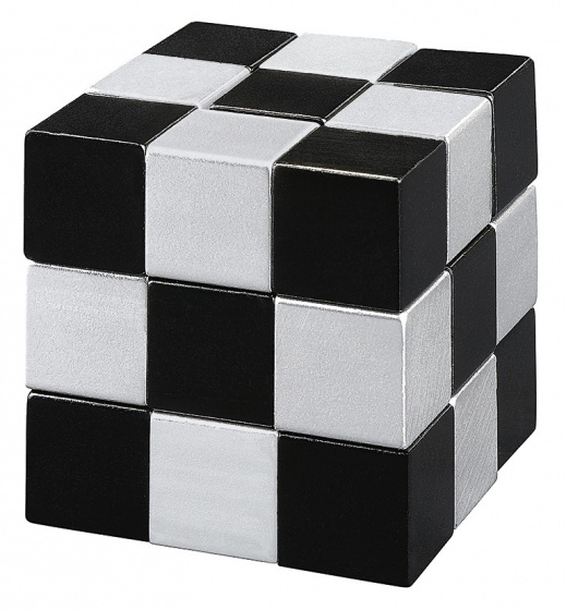 Moses puzzel Snake2Cube zilver 4,5 cm