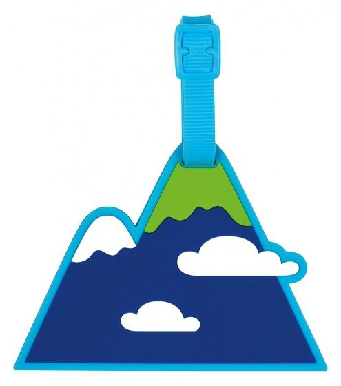 Moses siliconen kofferlabel Berg junior 11 x 9 cm blauw kopen