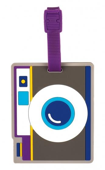 Moses siliconen kofferlabel Camera junior 9 x 7,5 cm grijs kopen