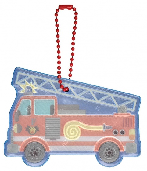 Moses sleutelhanger Glimmis brandweerwagen 13 cm blauw/rood