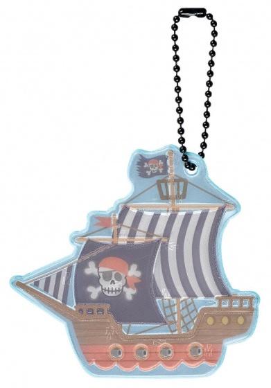 Moses sleutelhanger Glimmis piratenschip 13 cm blauw/bruin