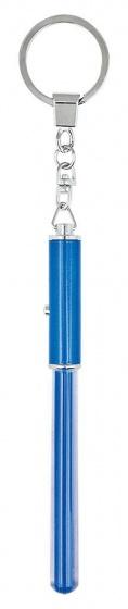 Moses sleutelhanger met lichtzwaard 12 cm blauw