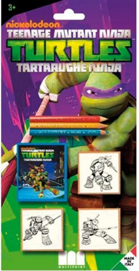 Multiprint kleurset Ninja Turtles 7-delig groen