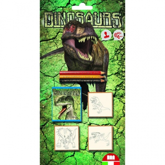 Multiprint Stempelset Dinosaurus: 7 Delig
