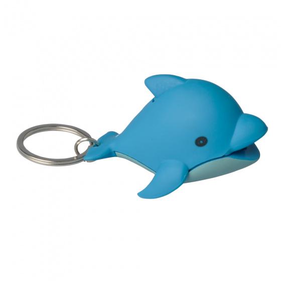 Munkees sleutelhanger Dolfijn met lampje blauw junior 5,8 cm