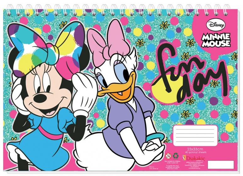 Must sticker en kleurboek Fun day 33 cm papier 40 pagina's