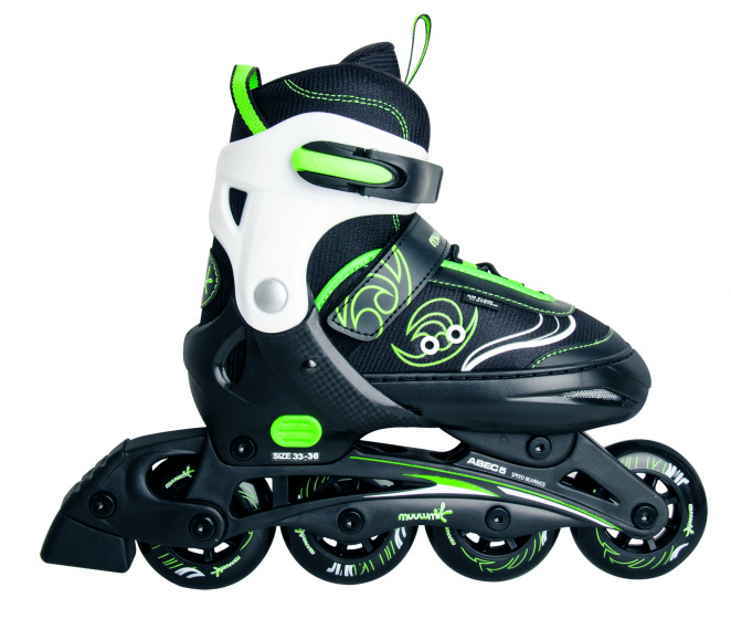 Muuwmi inline skates Kinderliner groen/zwart junior maat 29 32