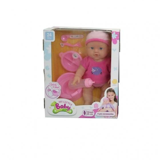 My Little Baby babypop met drink en plasfunctie 31 cm roze