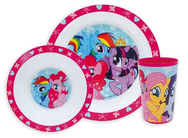 My Little Pony Lunchset kunststof 3 delig roze